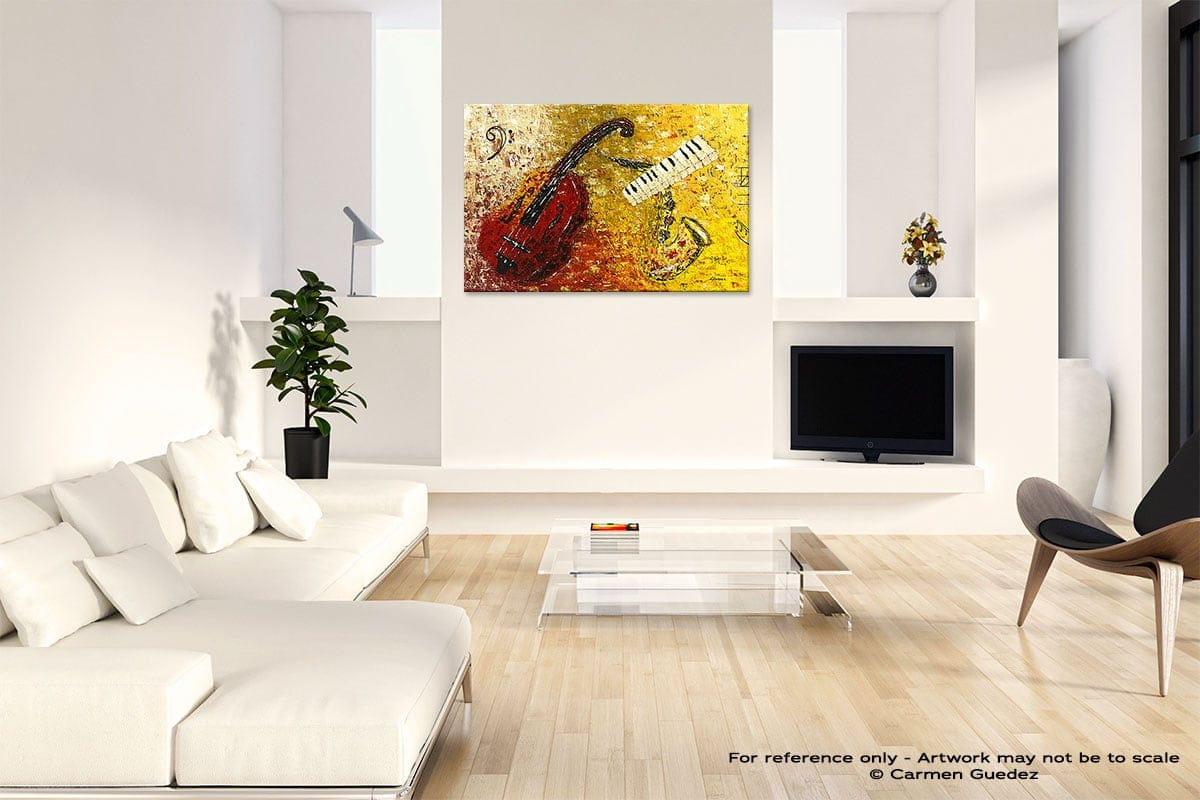 Concertino Abstract Art Painting Interior Living Room Design Id60