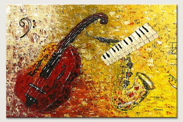 Concertino Impressionist Music Art Painting Id80