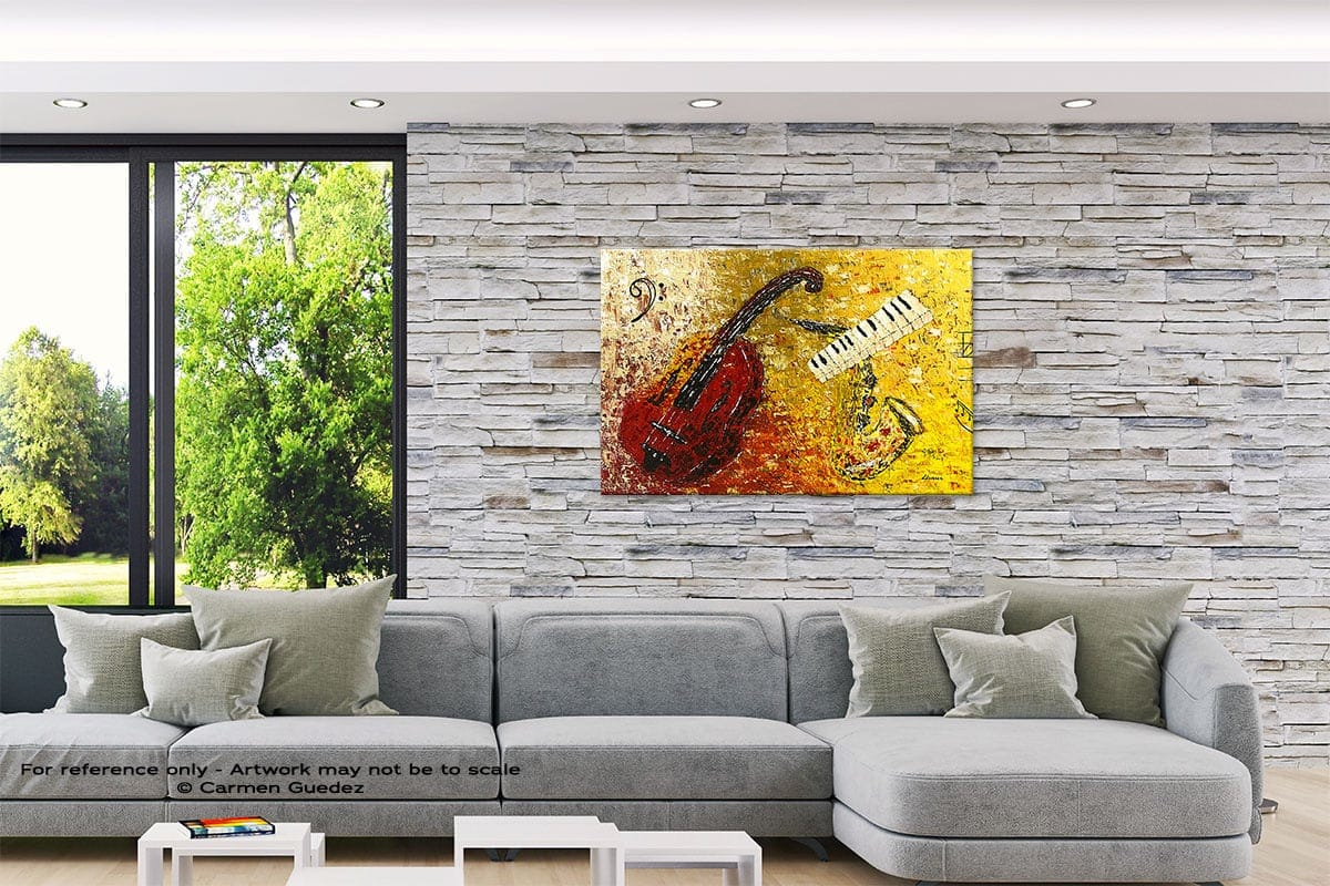 Concertino Original Abstract Painting On Canvas Id62