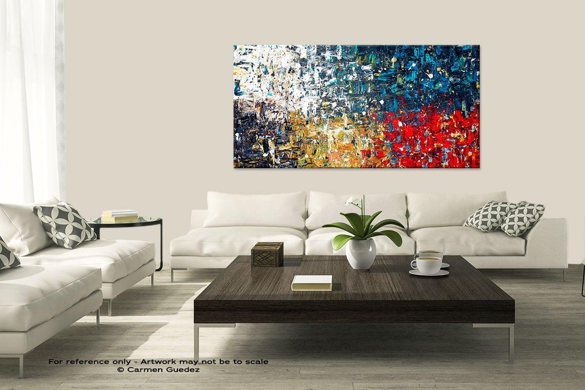 Copacabana3 Modern Large Abstract Art Painting Id8