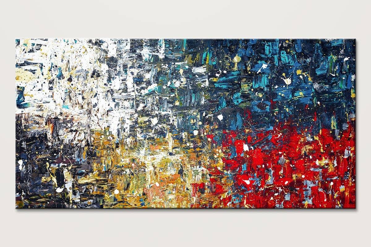 Copacabana3 Textured Abstract Art Painting