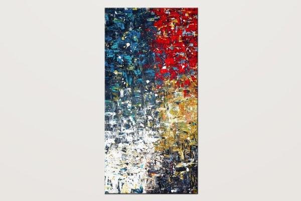 Copacabana4 Textured Abstract Art Painting