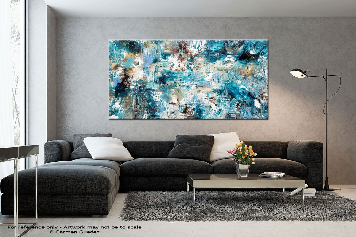 Coral Reef Black And White Wall Abstract Art Painting Id70