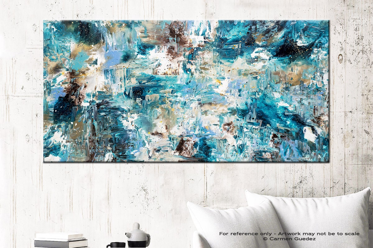 Coral Reef1 Abstract Art Canvas Painting Id72