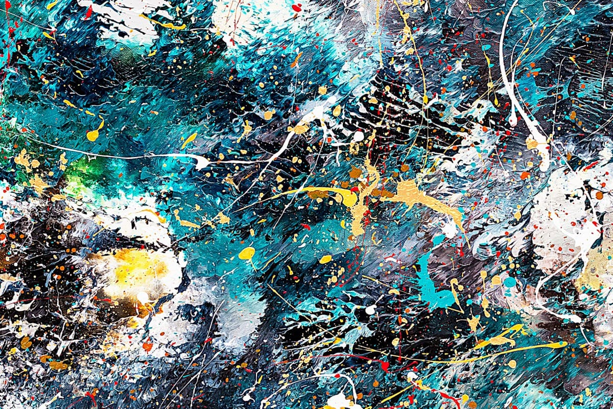 Cosmos Abstract Art Painting Close Up