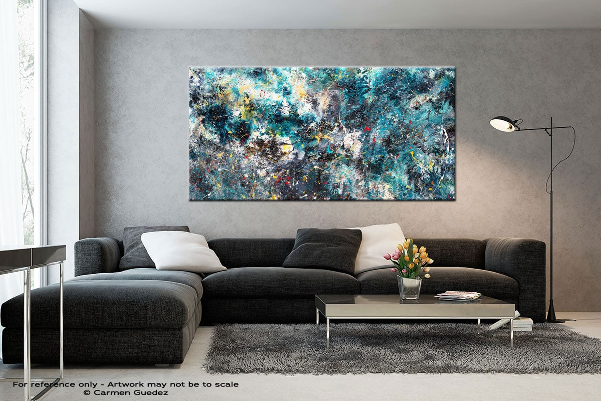 Cosmos Black And White Wall Abstract Art Painting Id70
