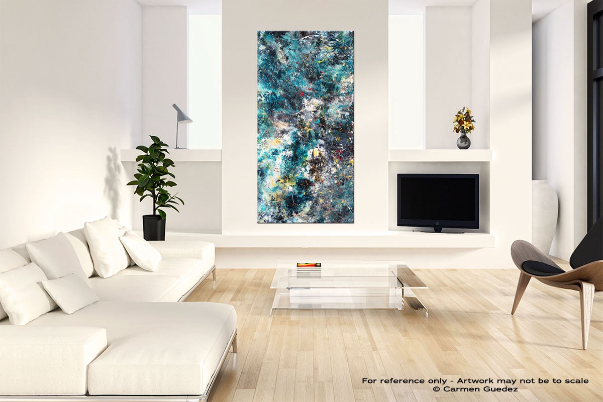 Cosmos Neutral Wall Art Abstract Painting Id14