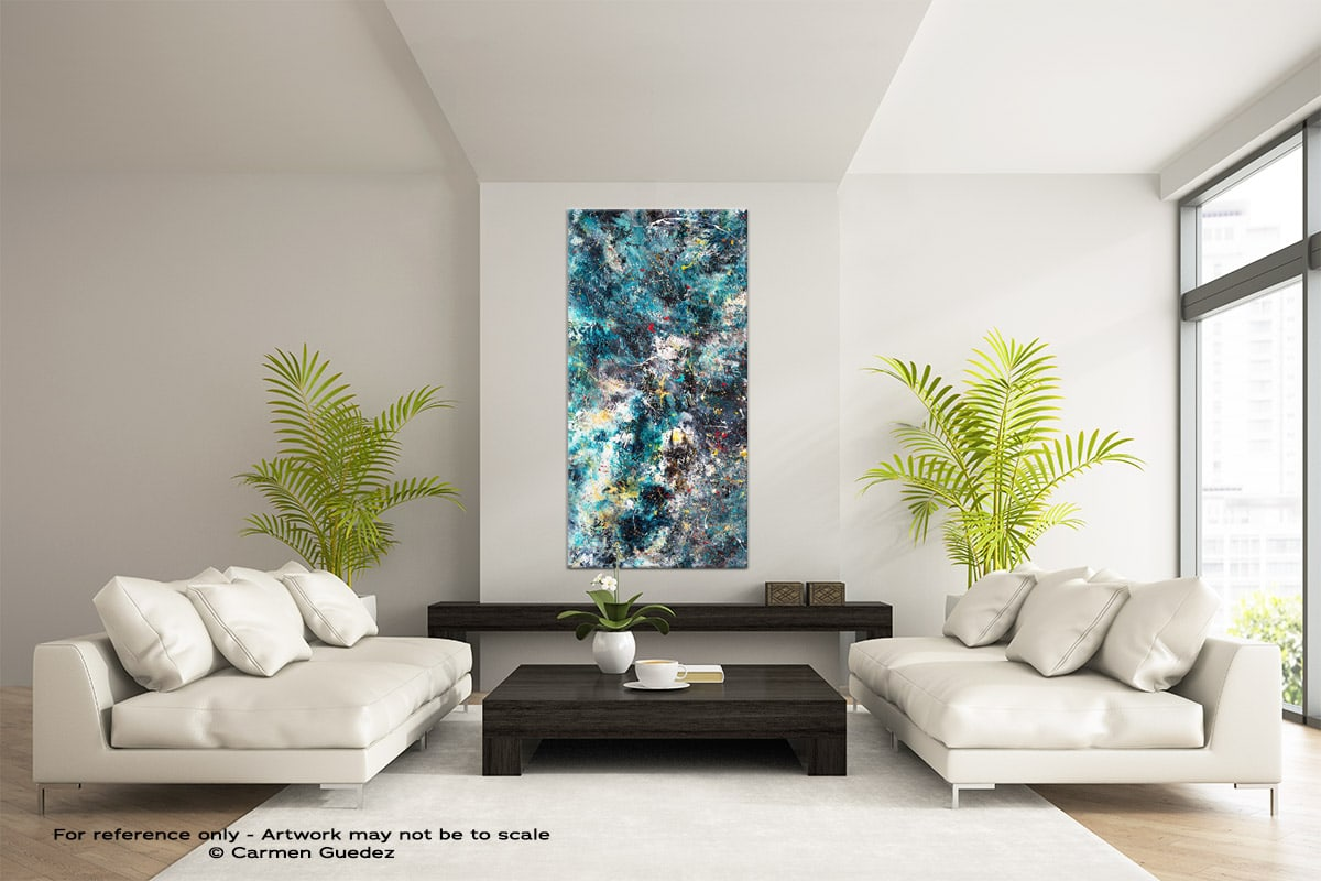 Cosmos Vertical Large Abstract Painting V1 Id16