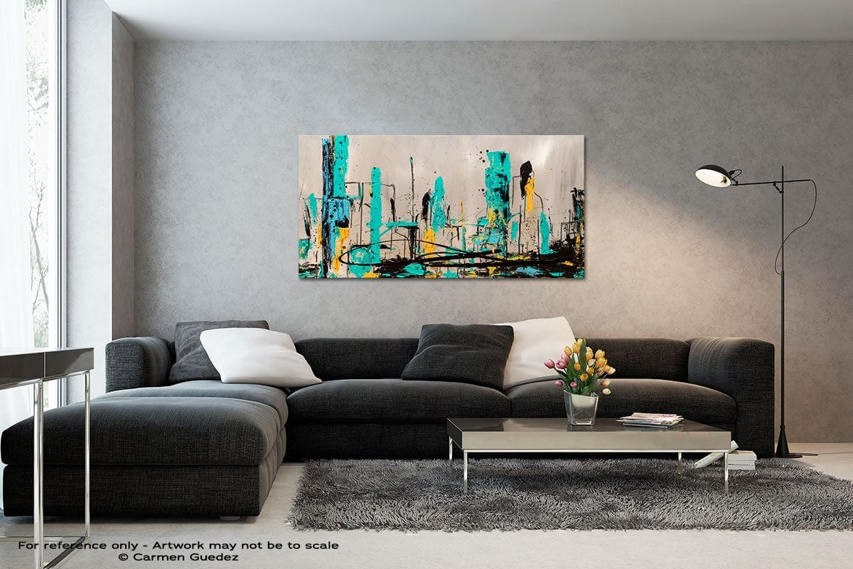 Count Me In Black And White Wall Abstract Art Painting Id70