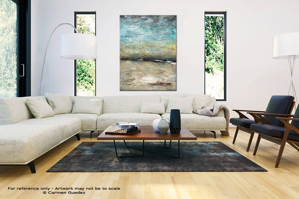 Country Landscape Large Vertical Wall Art Painting Id53