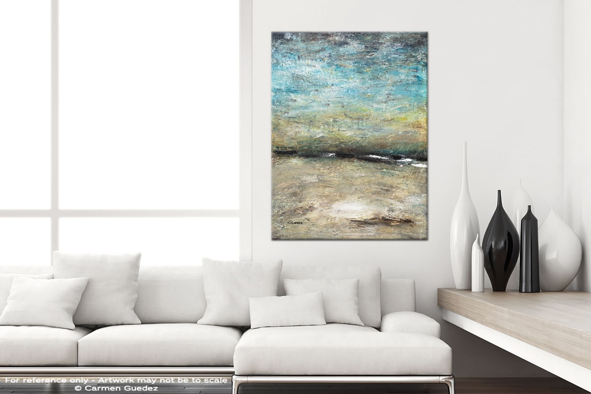 Country Landscape Modern Vertical Black And White Interior Abstract Art Id54