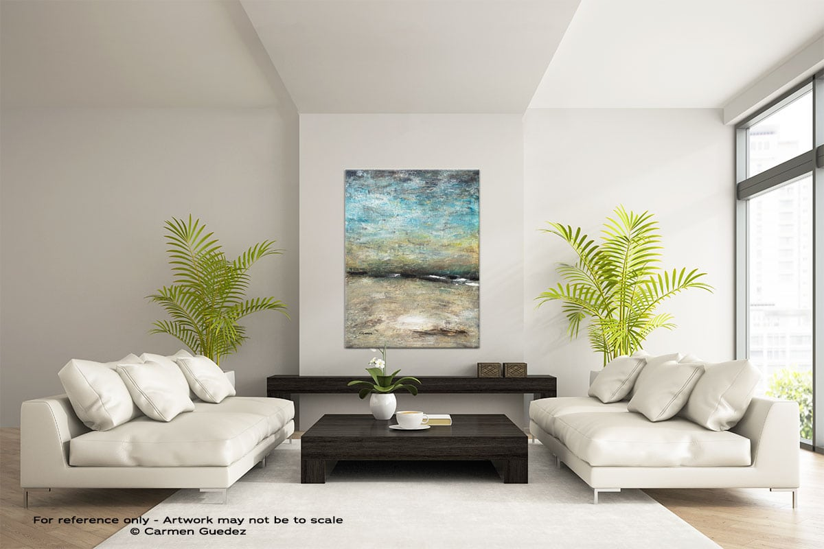 Country Landscape Vertical Abstract Wall Art Painting Id57
