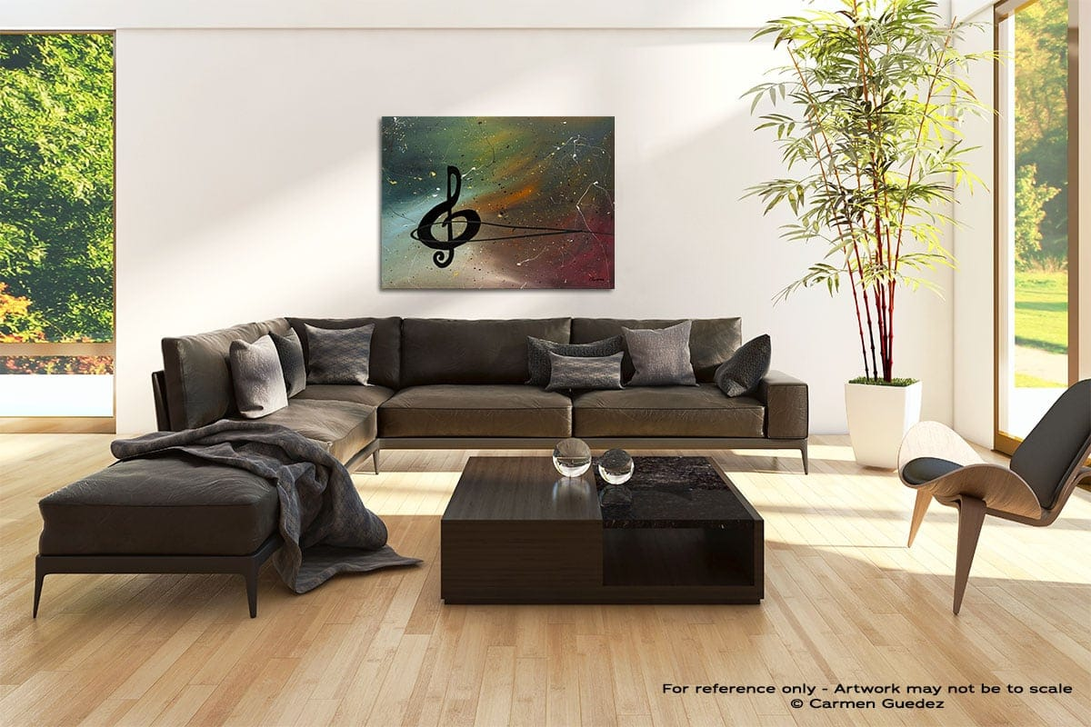 Crescendo Abstract Painting Modern Home Id69
