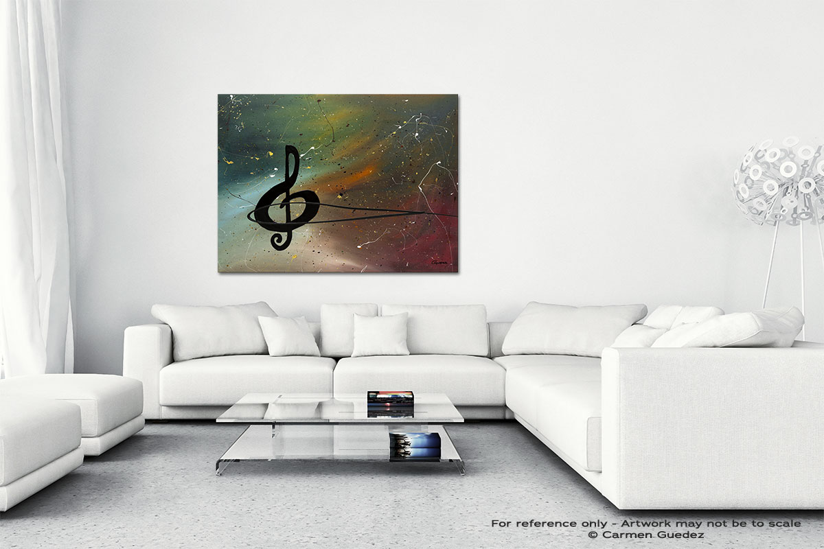 Crescendo Canvas Art Abstract Painting Id47