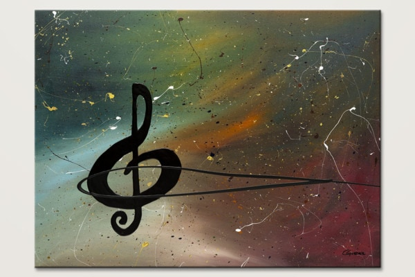 Crescendo Music Abstract Art Painting Id80