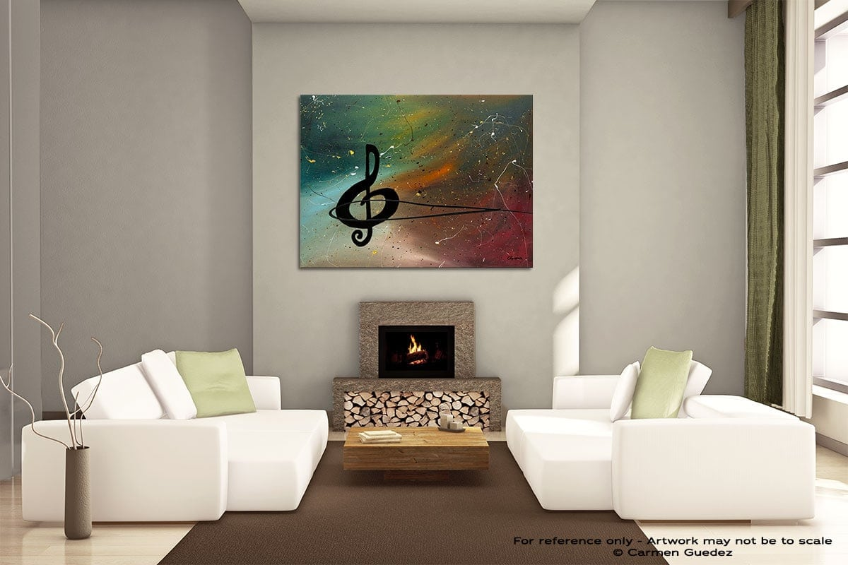 Crescendo Painting On Canvas Large Living Room Id52