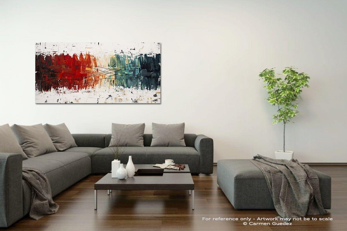 Crystal Clear Acrylic Gray Wall Art Painting Id34