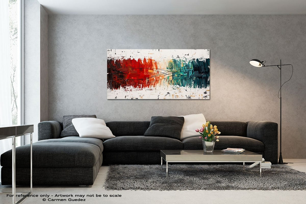 Crystal Clear Black And White Wall Abstract Art Painting Id70