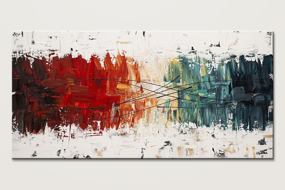 Crystal Clear Original Abstract Art Painting Id80