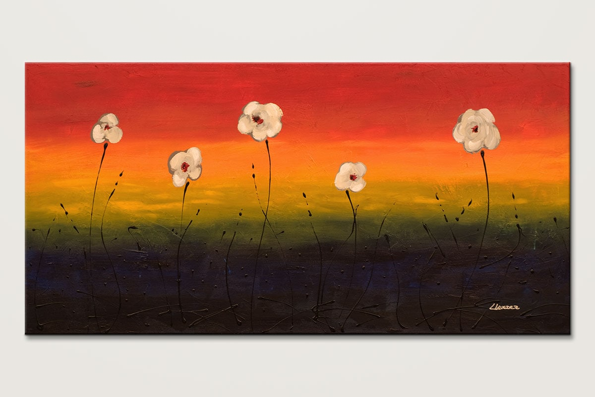 Dancing Flowers Colorful Abstract Art Painting Id80