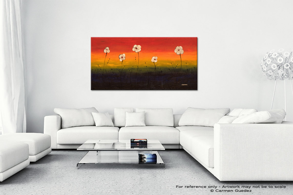 Dancing Flowers Wall Art Canvas Painting Id40