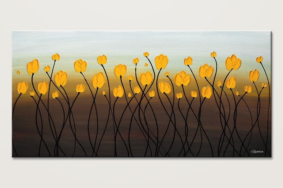 Dancing Tulips - Abstract Art Painting Image by Carmen Guedez