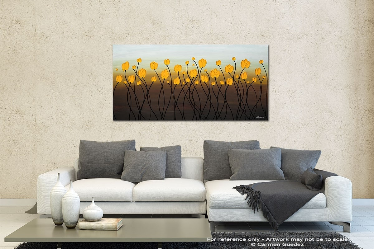 Dancing Tulips Contemporary Abstract Art Id35