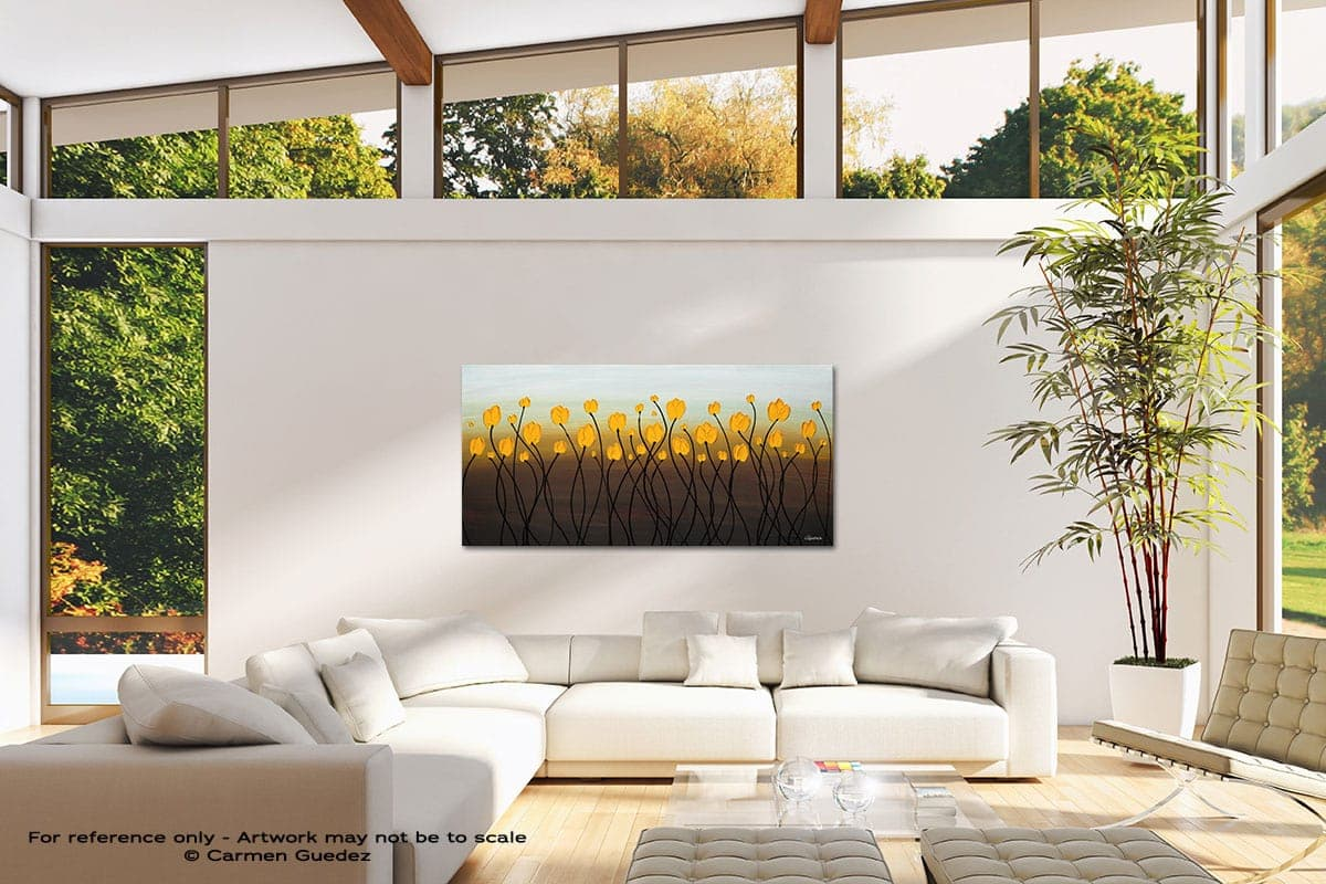 Dancing Tulips Modern Canvas Abstract Art Id38