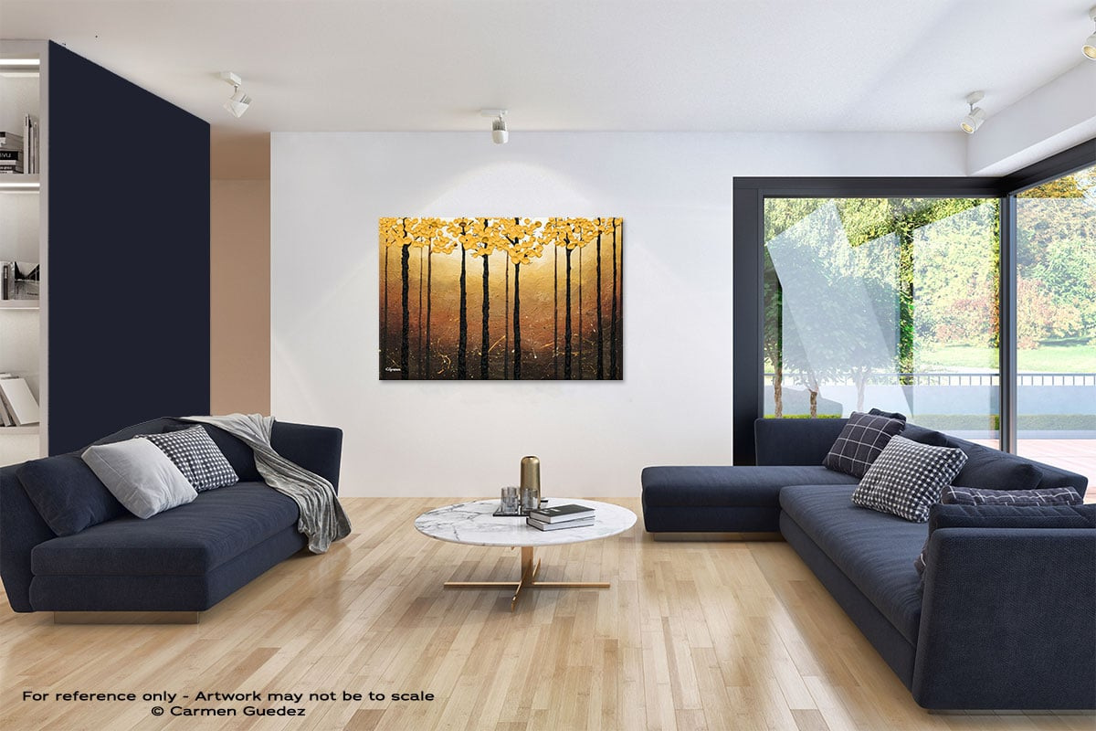 Days Of Hope Abstract Art Blue Interior Home Id59