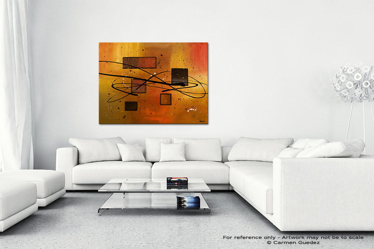 Deco Contemporaine Canvas Art Abstract Painting Id47