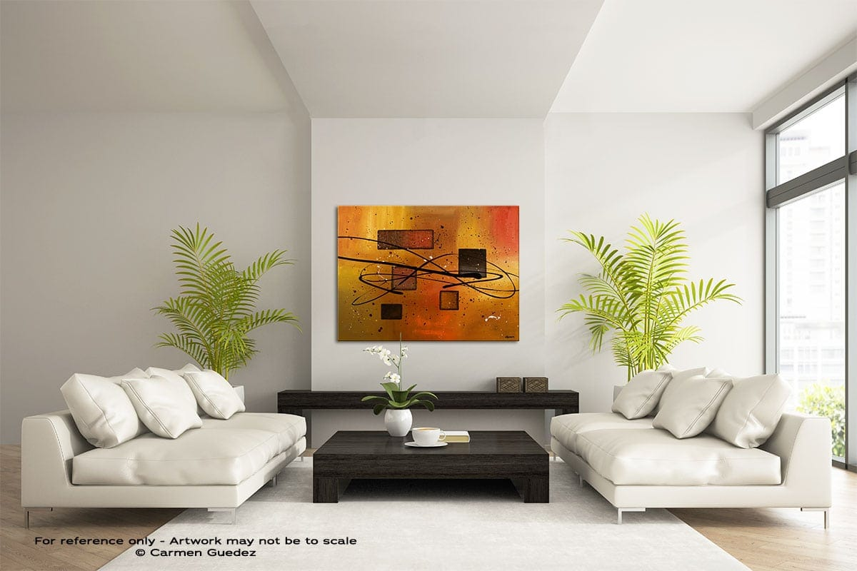 Deco Contemporaine Large Modern Abstract Art Painting Id49