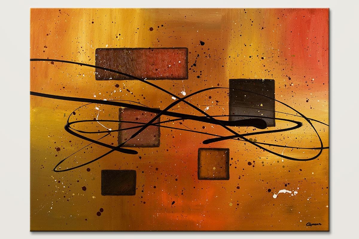 Deco Contemporaine Original Abstract Art Painting Id80