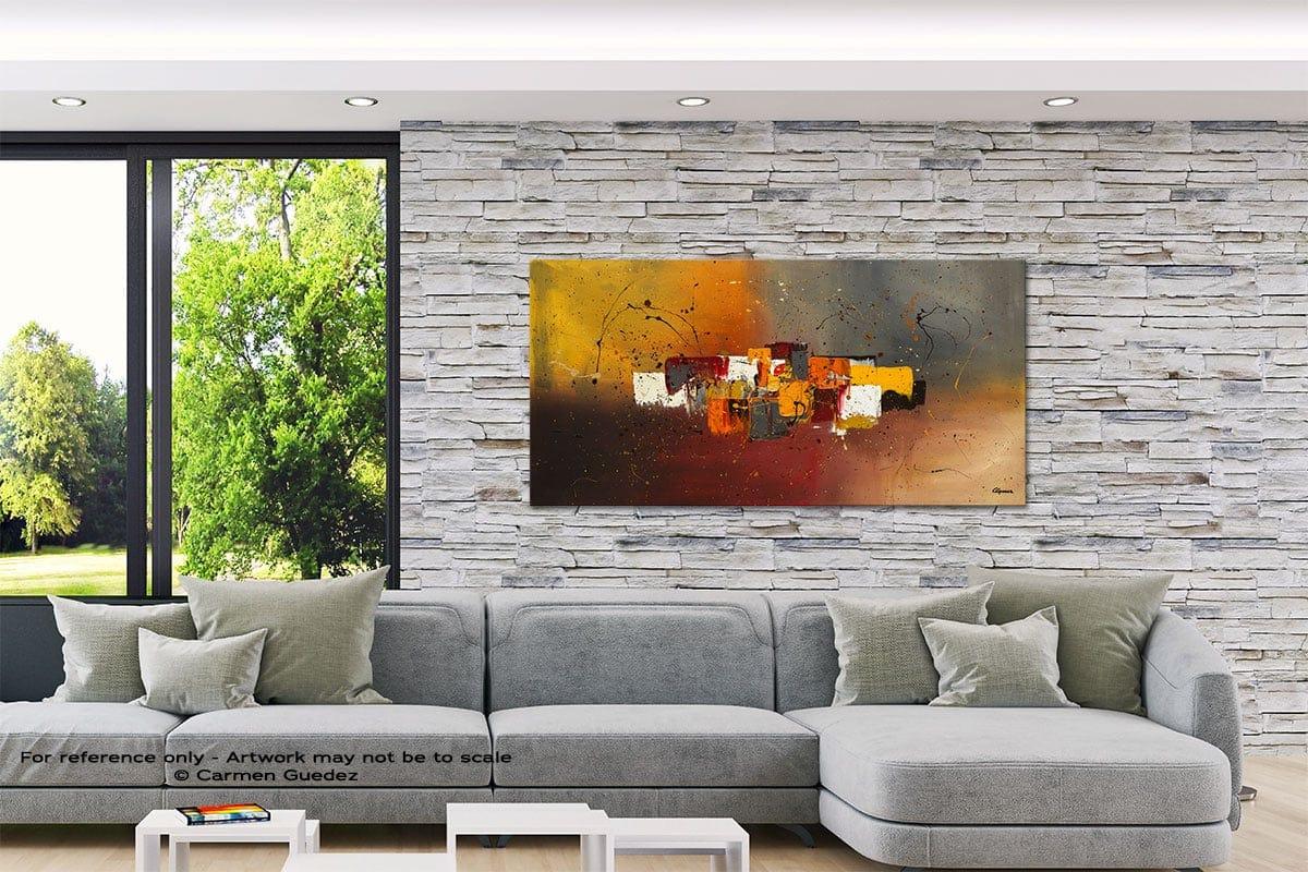 Decora Abstract Canvas Painting Interior Decor Id33