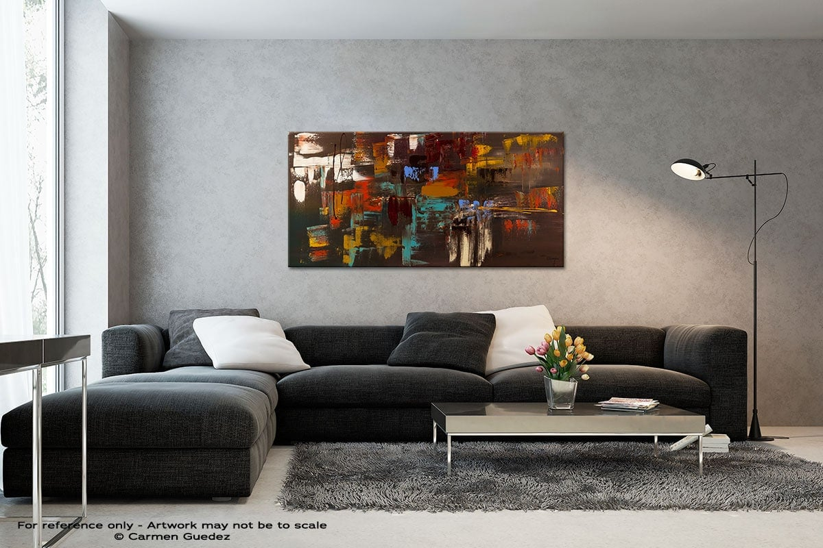 Deja Vu Black And White Wall Abstract Art Painting Id70