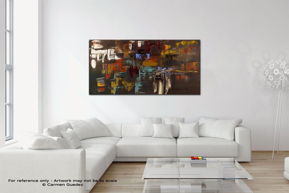 Deja Vu Original Neutral Abstract Wall Art Room Id39