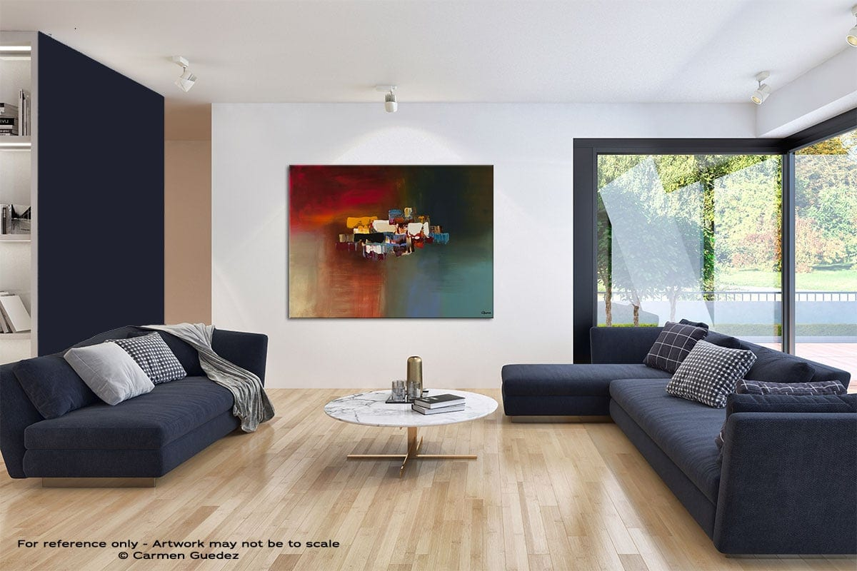 Dream Modern Blue Abstract Painting Home Id50