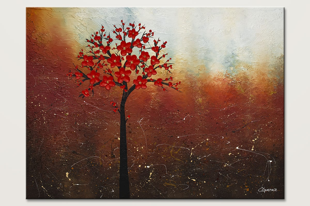 Oversized abstract art for sale dreamy nature landscape for Abstract nature painting