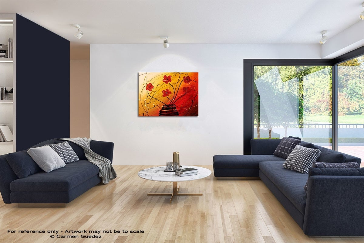 Dripping Flowers Modern Wall Art Painting Living Room Id65