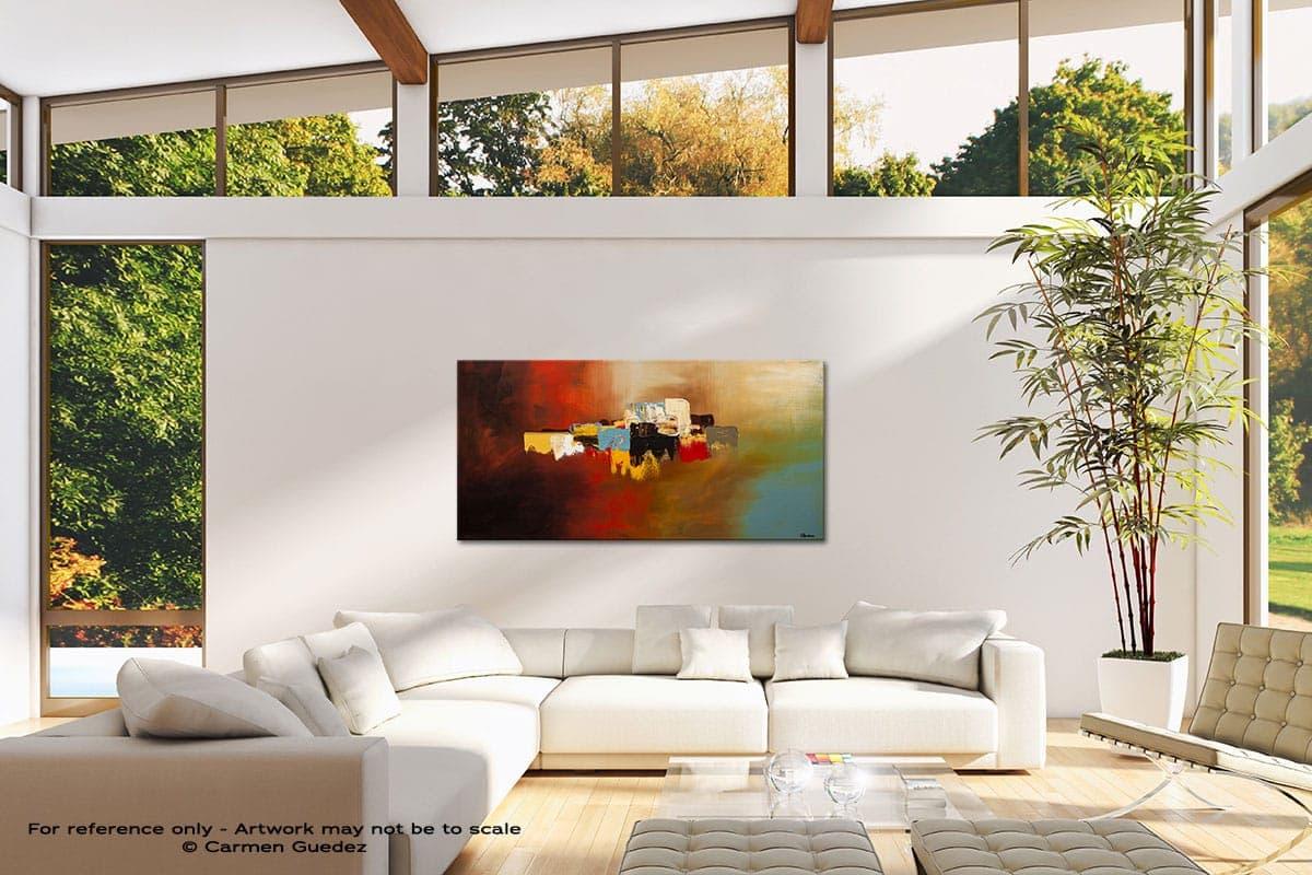 Du Soleil Modern Canvas Abstract Art Id38