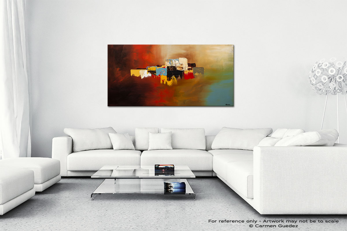 Du Soleil Wall Art Canvas Painting Id40