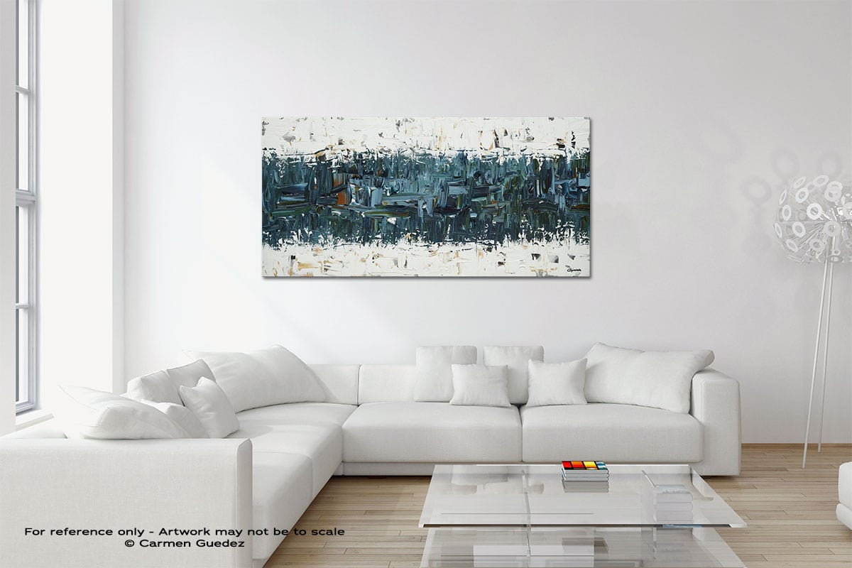 Dynamism Original Neutral Abstract Wall Art Room Id39