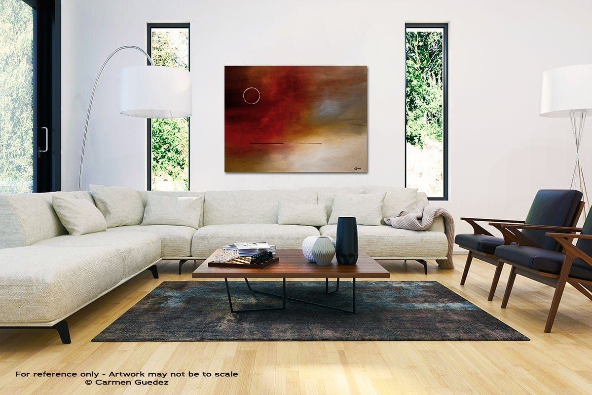Eclipse Black And White Interior Decor Abstract Art Id46