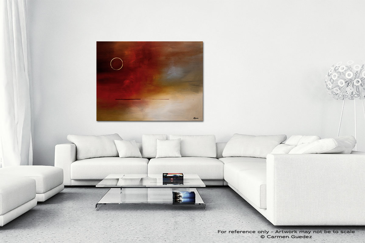 Eclipse Canvas Art Abstract Painting Id47