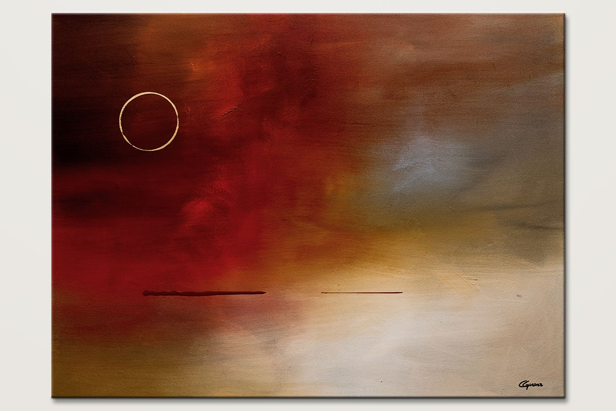 Modern Original Abstract Art Painting - Eclipse