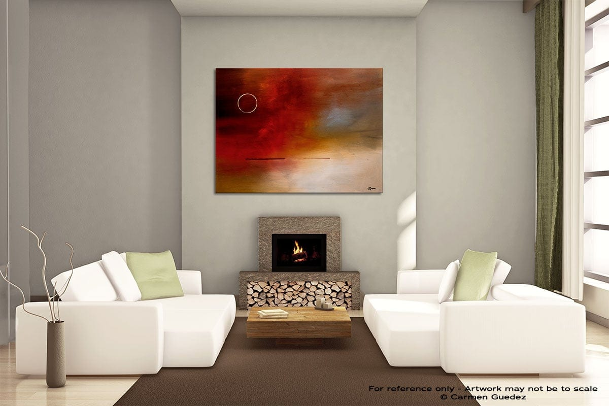 Eclipse Painting On Canvas Large Living Room Id52