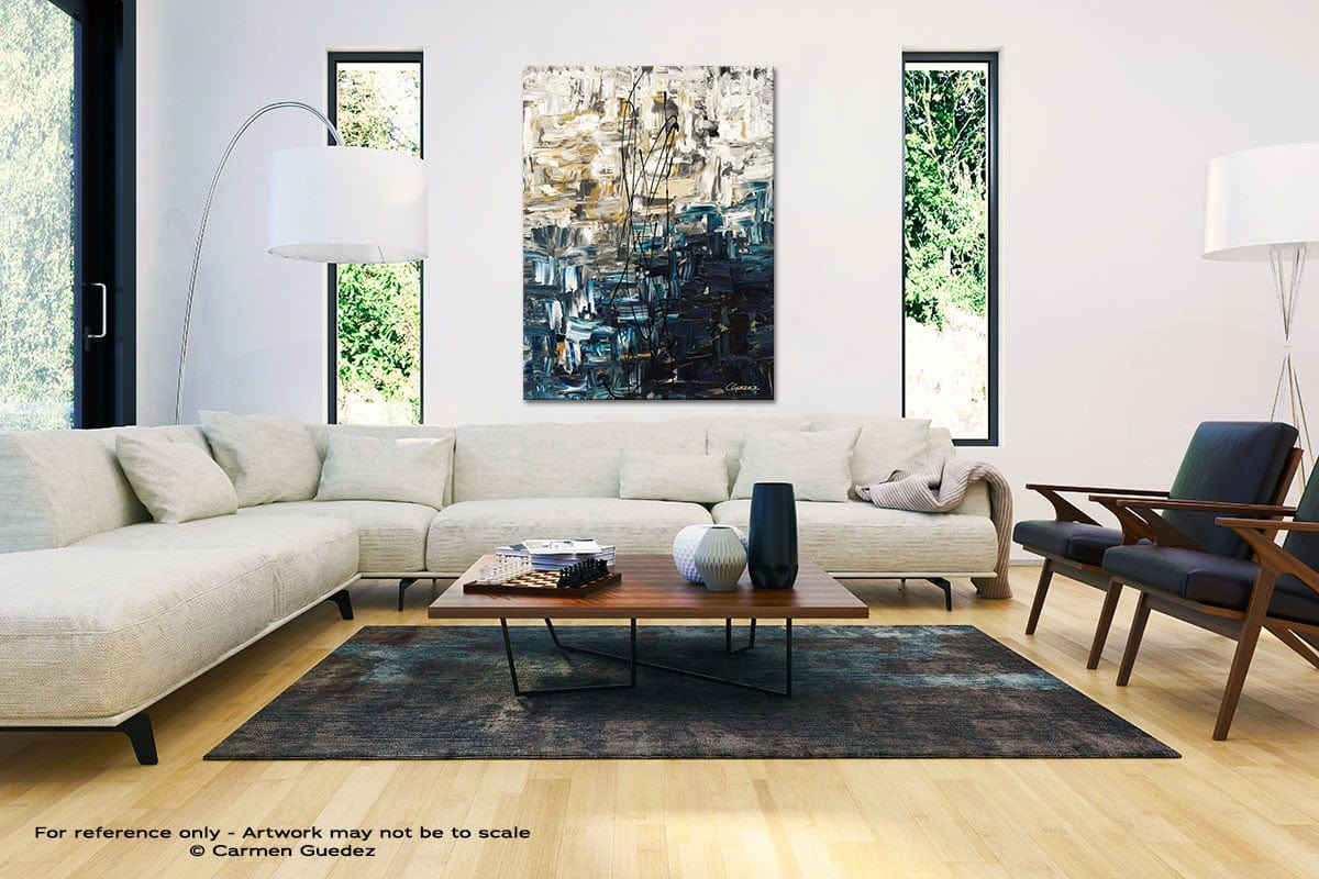 Envisioning Large Vertical Wall Art Painting Id53