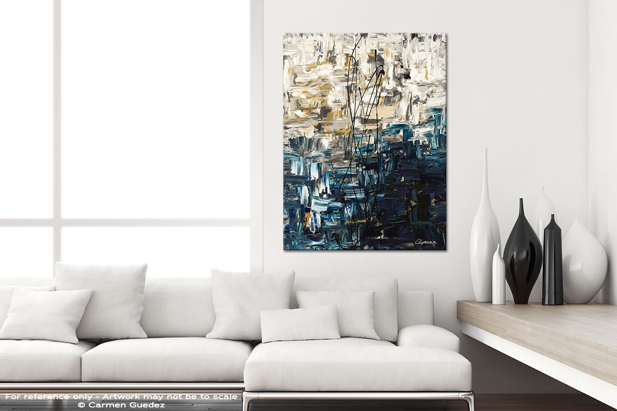 Envisioning - Modern Vertical Interior Abstract Art