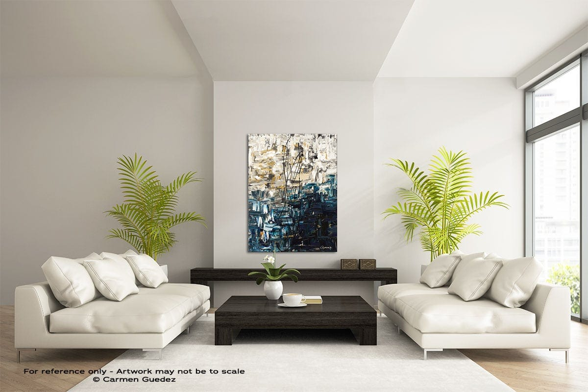 Envisioning Vertical Abstract Wall Art Painting Id57