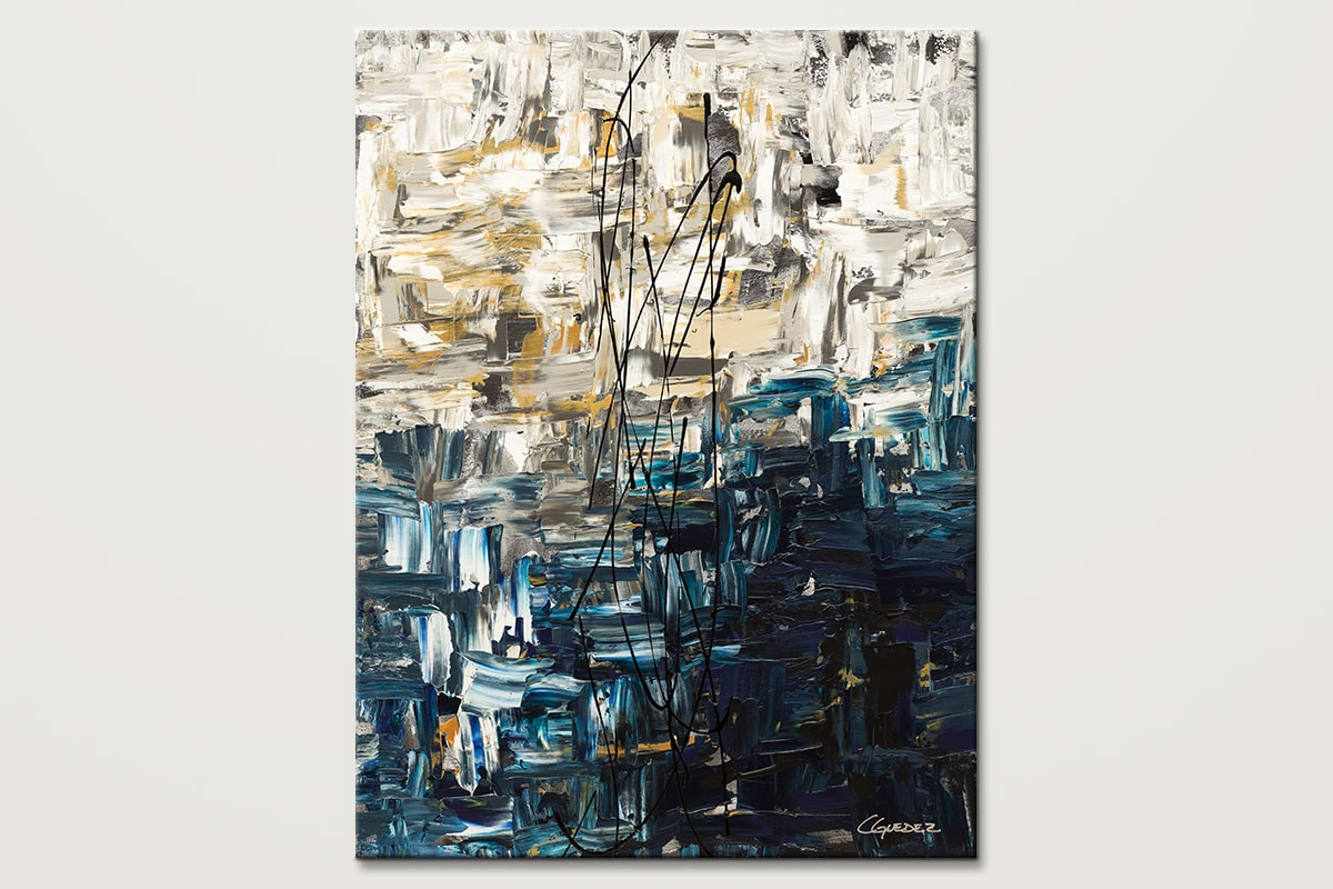 Vertical Abstract Art for Sale - Envisioning