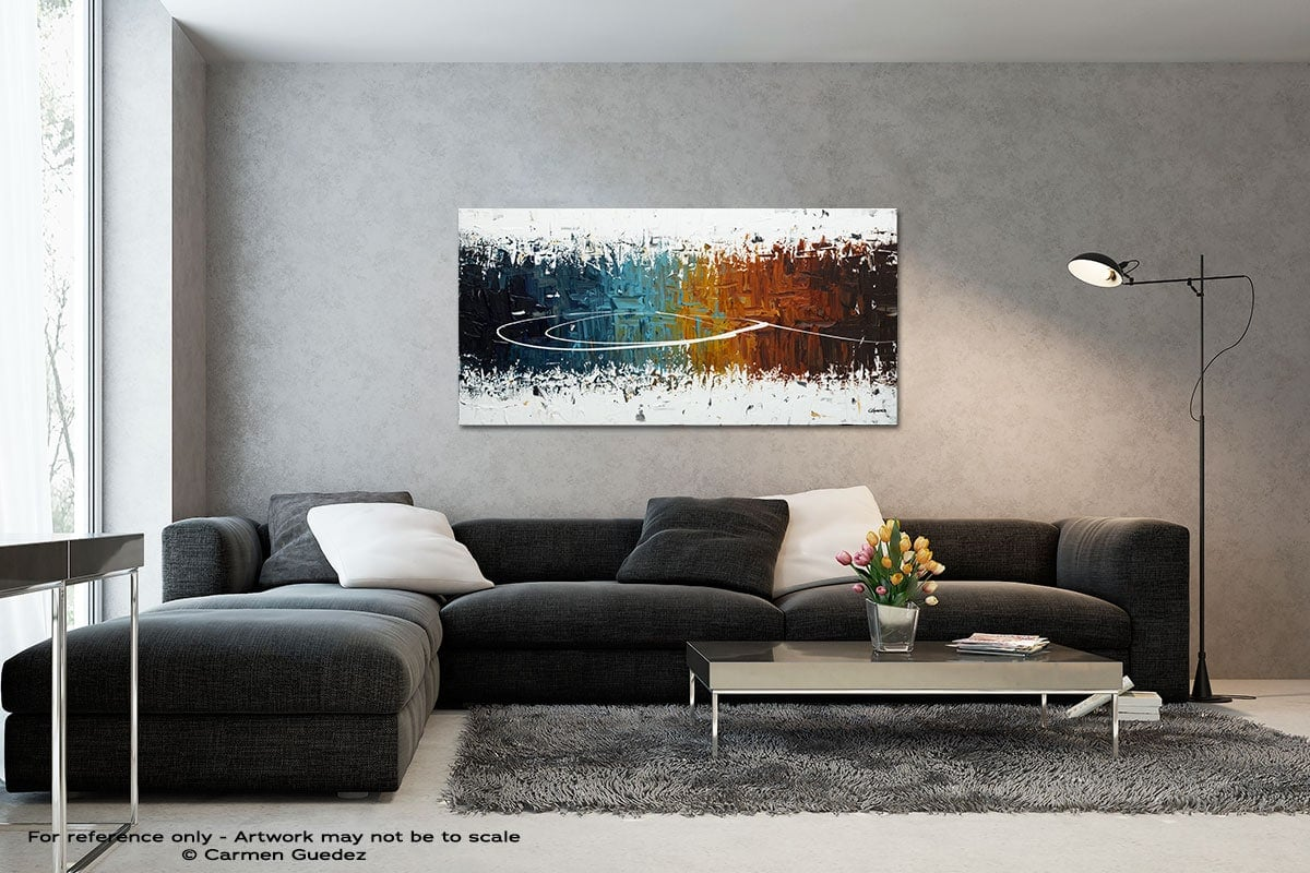 Eye Of The Beholder Black And White Wall Abstract Art Painting Id70